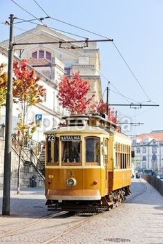 Photo about Old tram in Porto, Portugal. Image of urban, town, locations - 21972958 Inter Rail, Portuguese Culture, Famous Places, Heritage Site, Travel Inspiration, Places To Visit, Stock Photos, Port Wine, Passion