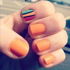 Fun accent nail idea with Zoya Nail Polish in Arizona!