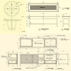 Furniture Design Details drawings for a variety of applications - lumonyx | detay