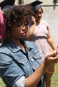 The look for tomorrow! Pray I won't look like Sideshow Bob haha 4b Natural Hair, Natural Hair Journey, Natural Hair Styles, Graduation Hairstyles With Cap, Grad Hairstyles, Black Hairstyles, Afro Textured Hair, Natural Hair Inspiration, Bad Hair