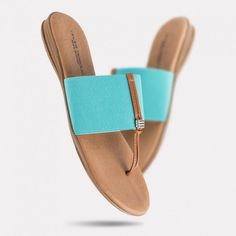 Andre Assous - Nice 2 Thong Sandal in Turquoise