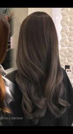 6 B/G Ash Blonde Hair naturlocken Brown Hair Balayage, Ash Blonde Hair, Hair Color Balayage, Brunette Hair, Hair Highlights, Dark Hair, Blonde Color, Dark Ash Brown Hair, Blonde Makeup