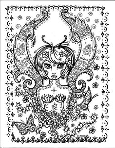 Instant Download Butterfly Coloring pages 5 you by ChubbyMermaid