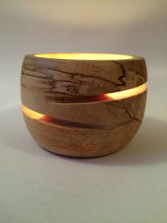 Image result for woodturning tea light