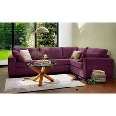 Eton Right Hand Corner Sofa Group - Wine at Homebase -- Be inspired and make your house a home. Buy now.