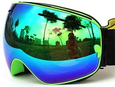 COPOZZ Durable Anti Fogging Anti UV 400 OTG Ski Goggles, Snowboard Goggles with REMOV MIRROR and Helmet Compatible with extra long adjustable strap Different VLT Avaliable (03Green VLT 24.3%) Copozz $45.25 free shipping from america http://www.amazon.com/dp/B01932EC9U/ref=cm_sw_r_pi_dp_EDYKwb173Y13N