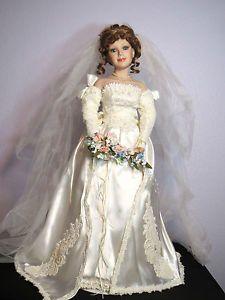 "porcelain bridal dolls   Details about Court of Dolls Porcelain BRIDE Doll NIB 27"" Tall Wedding"