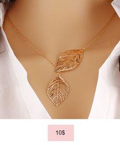 Vintage Big Leaf Pendant Necklace