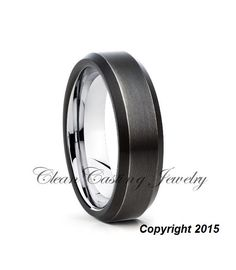 Mens Tungsten Wedding BandTungsten Wedding by CleanCastingJewelry