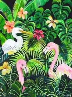 Consuelo Vidal · pintura 4, 5 y 6 de diciembre en MODOS Galería FLORA · Pequeña Feria de Arte Plantístico #FLORA #illustration #painting #botanic #botany #plantas #botanica #artist #artwork #argentina #consuelovidal #botanic #botanical #handmade #original #flamingos #acrylic