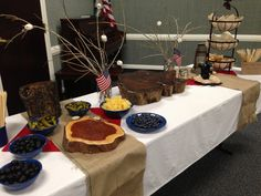 Eagle Scout Court of Honor food table. Everything was on a stick. Beef stick, and cheese sticks with pickles and olives. Lots of fruits and veggies to build your own.