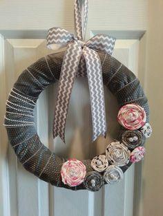 Shabby chic wreath by facebook.com/wreathinghavoc