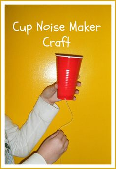 Cup Noise Maker Craft