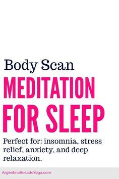 Sleep Meditation \ Body Scan \ Yoga Nidra for sleep, insomnia, stress relief, anxiety, and relaxation.