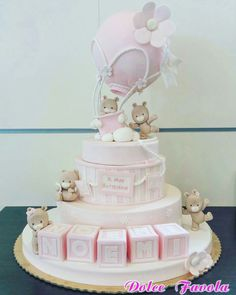 Girl Christening Decorations, Girl Baby Shower Decorations, Baby First Birthday Cake, Baby Birthday Cakes, Baby Shower Cakes, Baby Shower Parties, Gravity Defying Cake, Baby Girl Cakes, Themed Cakes