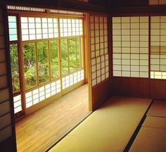 Tatami flooring. You don't wear shoes inside! That's kitanai (dirty)
