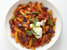 Penne with Eggplant Sauce Recipe : Food Network Kitchen : Food Network - FoodNetwork.com