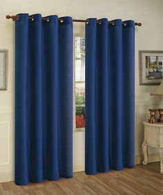 Look what I found on #zulily! Navy Blue Mira Grommet Panel - Set of Two #zulilyfinds