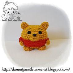 Winnie the Pooh, Piglet, Eeyore and Tigger: free crochet patterns (Free Amigurumi Patterns) Crochet Amigurumi Free Patterns, Crochet Dolls, Crochet Pig, Crochet Things, Crochet Round, Cute Crochet, Winnie The Pooh, Crochet Disney, Crochet Abbreviations