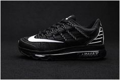 competitive price b7563 f4ef8 Latest Nike Air Max 2016 II Sneakers Nano TPU Material All Black Mens  Running Shoes Online