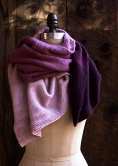 Stunning! (and expensive) New plum color added to Purl Soho's Cashmere Ombré Wrap family: deep, juicy, and absolutely gorgeous!