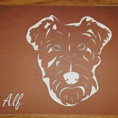 Bespoke JPIC design of Alf the Irish Terrier! #woof #jpic #new #order #etsy #etsygifts #jld #brown #ivory #gift
