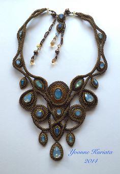 'Emily's Jewels'. Beadwork by Yvonne Kuriata.