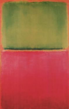 Green Red Orange -Mark Rothko