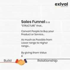 That's what Sales Funnel is... Know how to convert anyone.  Funnels help by giving you the information the Consumer behavior and with that, you can make it more productive.  Do you have any questions? Let me know down below, every question gets answered. - - 👉Follow @exlval for more! 👉Follow @exlval for more! - . . #customers #focus #exlval #marketingstrategy #digitalmarketing #sales #entrepreneurship #business #businessowner #businessowners #funnels #salesfunnel Consumer Behaviour, Giving, Entrepreneurship, Behavior, Digital Marketing, This Or That Questions, Relationship, Posts, Business
