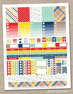 Craft Collection Printable Planner Stickers PDF Instant Download Weekly Graphics Kit