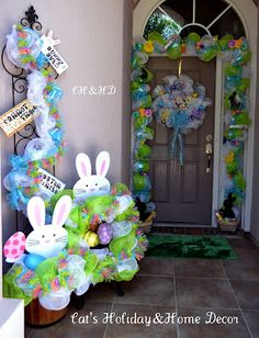 love this entry way for Easter!