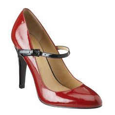 Red and black Mary Jane heels