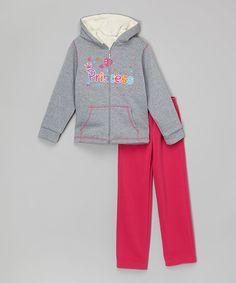 Loving this Gray 'Princess' Zip-Up Hoodie & Sweatpants - Toddler & Girls on #zulily! #zulilyfinds