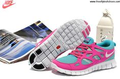 Buy Discount Womens Nike Free Run 2 Bright Turquoise White Pink Flash Grey Shoes Fashion Shoes Shop