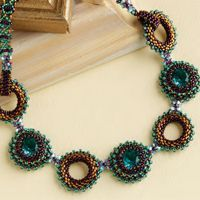 Necklace of beads and Rivoli