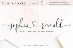 Modern calligraphy font with handwritten, sophisticated flows. It is full of hearts and glyphs. It is perfect for branding, wedding invites, and cards. $19 Calligraphy Fonts, Typography Fonts, Script Fonts, Modern Calligraphy, Hand Lettering, Calligraphy Heart, Lettering Styles, Lettering Tutorial, Font Logo