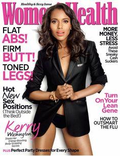 Kerry Washington Womens Health magazine December 2012 Cover