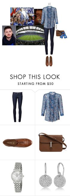 """""""Watching the last match of the season, Chelsea X Sunderland, at Stamford Bridge with Gustaf"""" by hrhprincessamelia ❤ liked on Polyvore featuring Naked & Famous, Jigsaw, ALDO, Gucci, Tissot, Monica Vinader, women's clothing, women's fashion, women and female"""