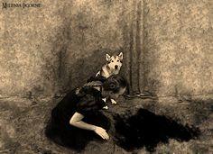 The Wolf The Girl In Black Dress by MileniaLicorne.deviantart.com on @deviantART