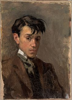 Fig. 2: Pablo Picasso (1881–1973), Self-Portrait, 1896. Oil on canvas, 13 x 9½ inches. Museu Picasso, Barcelona. © Museu Picasso, Barcelona / Ramon Muro, © 2010 Estate of Pablo  Picasso / Artist Rights Society (ARS), New York
