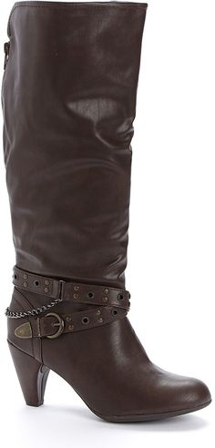 Brown Buckle-Strap Boot ~ Price was  $49.99  now Your's for just $14.99