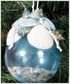 Plaid® Glass Sea Shell Ornament #ornaments #craft #christmas