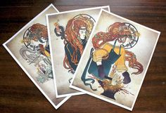Brigid by MaskIllustration on Etsy