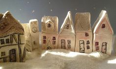 Christmas gift idea or stocking fillers, find these gorgeous miniature hand made village cottages at:  www.thelittlecottageartco