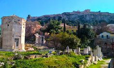 Plaka is located next to Acropolis and is one the most beautiful and interesting places of Athens. #Greek tours #Athens