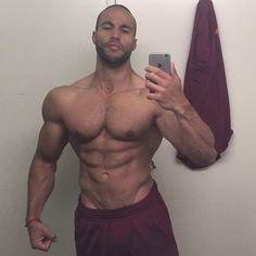 Mehmet Edip - trainer and now model -- does a selfie in LA