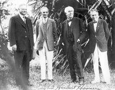Henry Ford, Herbert Hoover, Thomas Edison & Harvey Firestone. Camping Buddies that go way back.