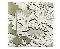 Parure copripiumino matr. in misto cotone Damask - grigio