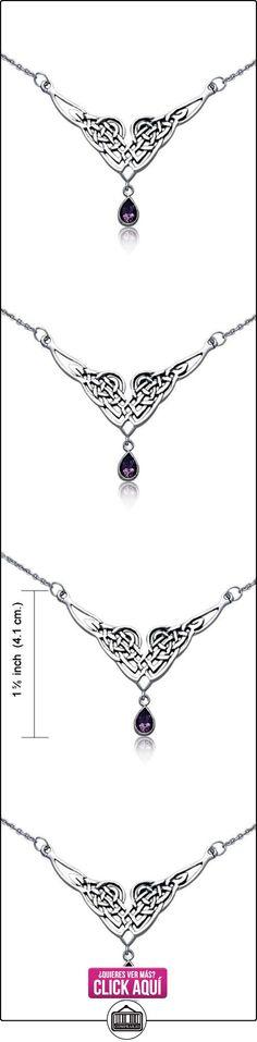 Bling Jewelry Nudo Celta Colgante Plata Esterlina Collar Lágrima Amatistas Natural  ✿ Joyas para niñas - Regalos ✿ ▬► Ver oferta: http://comprar.io/goto/B005T4SXD8