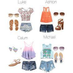 preference- Spring Break, Calum's is SOO cute 5sos Inspired Outfits, 5sos Outfits, Band Outfits, Cute Outfits, 5sos Preferences, 5sos Imagines, Cool Bands, How To Look Better, Summer Outfits